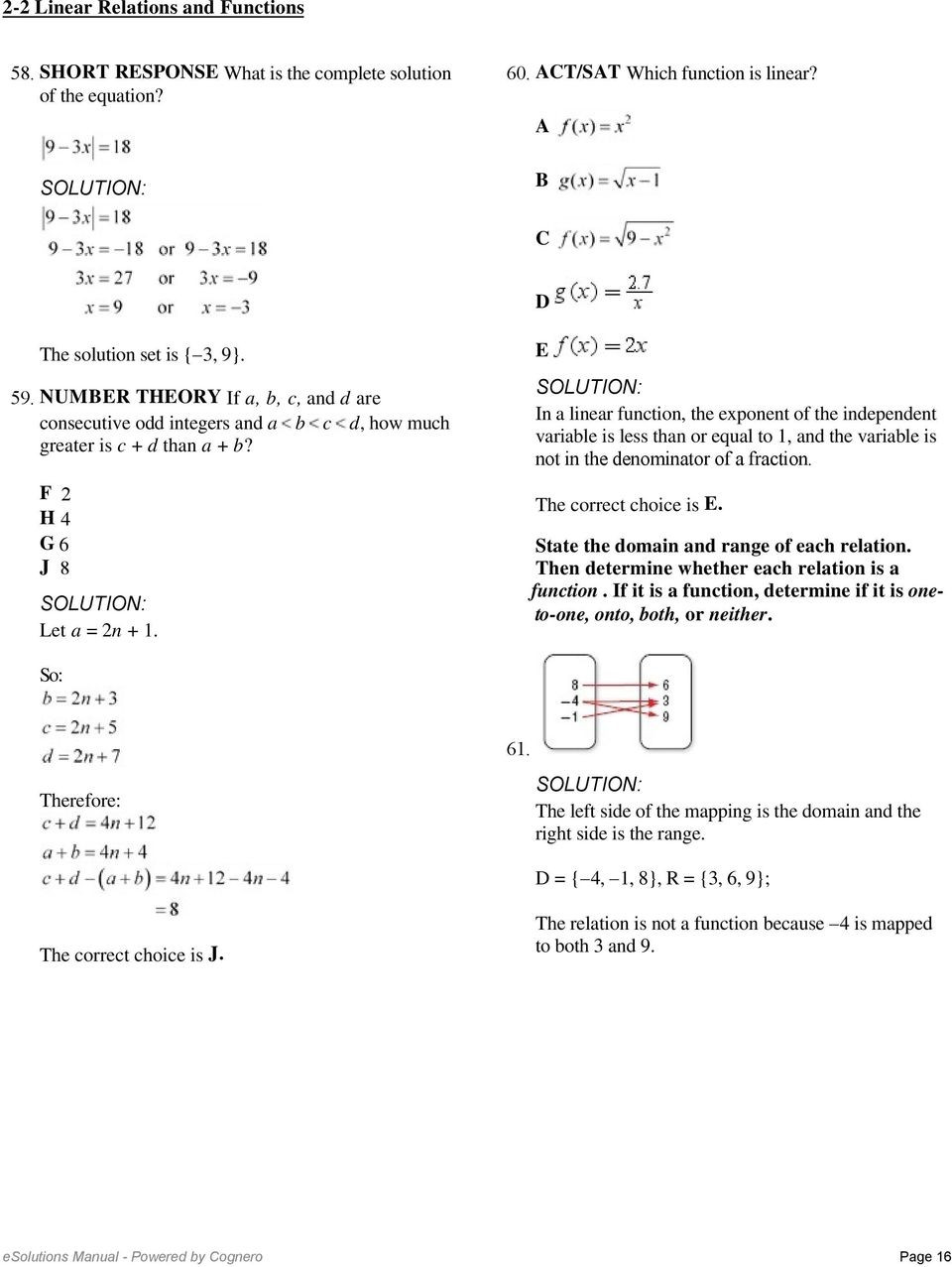Functions and Relations Worksheet 2 2 Linear Relations and Functions so the Function is