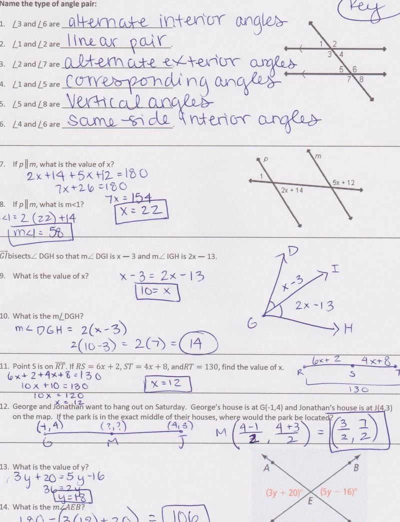 Geometric Proofs Worksheet with Answers Unique Worksheet Parallel Lines and Transversals Geometry