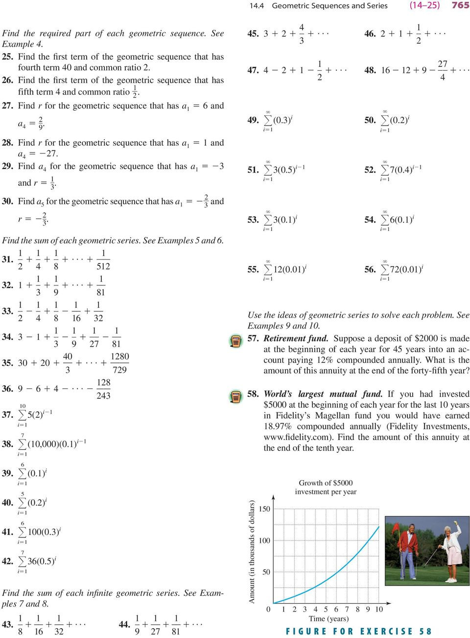 Geometric Sequence Worksheet Answers Geometric Sequences and Series Pdf Free Download