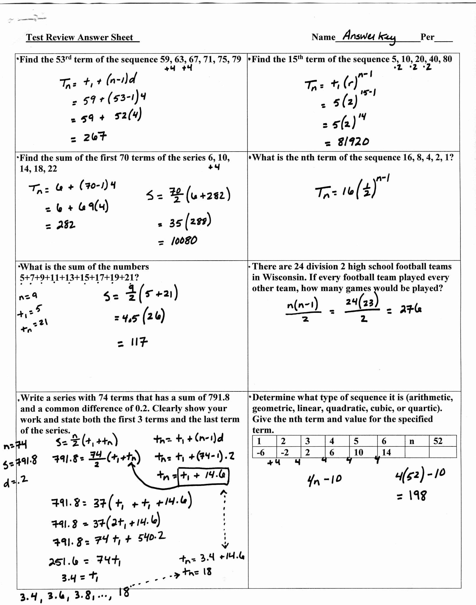 Geometric Sequence Worksheet Answers Pin On Customize Design Worksheet Line