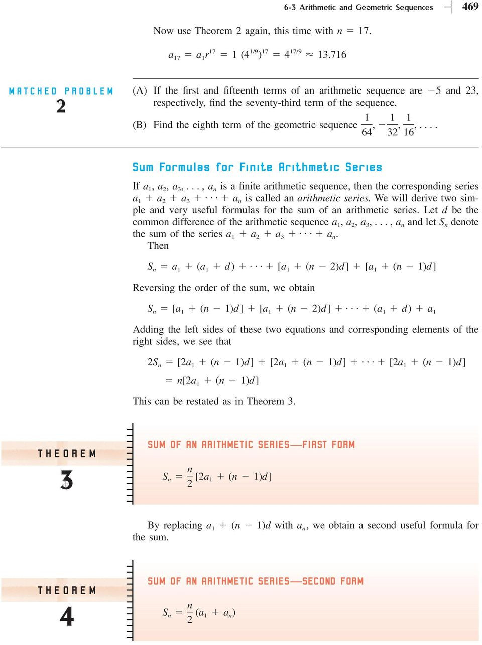 Geometric Sequence Worksheet Answers Section 6 3 Arithmetic and Geometric Sequences Pdf Free