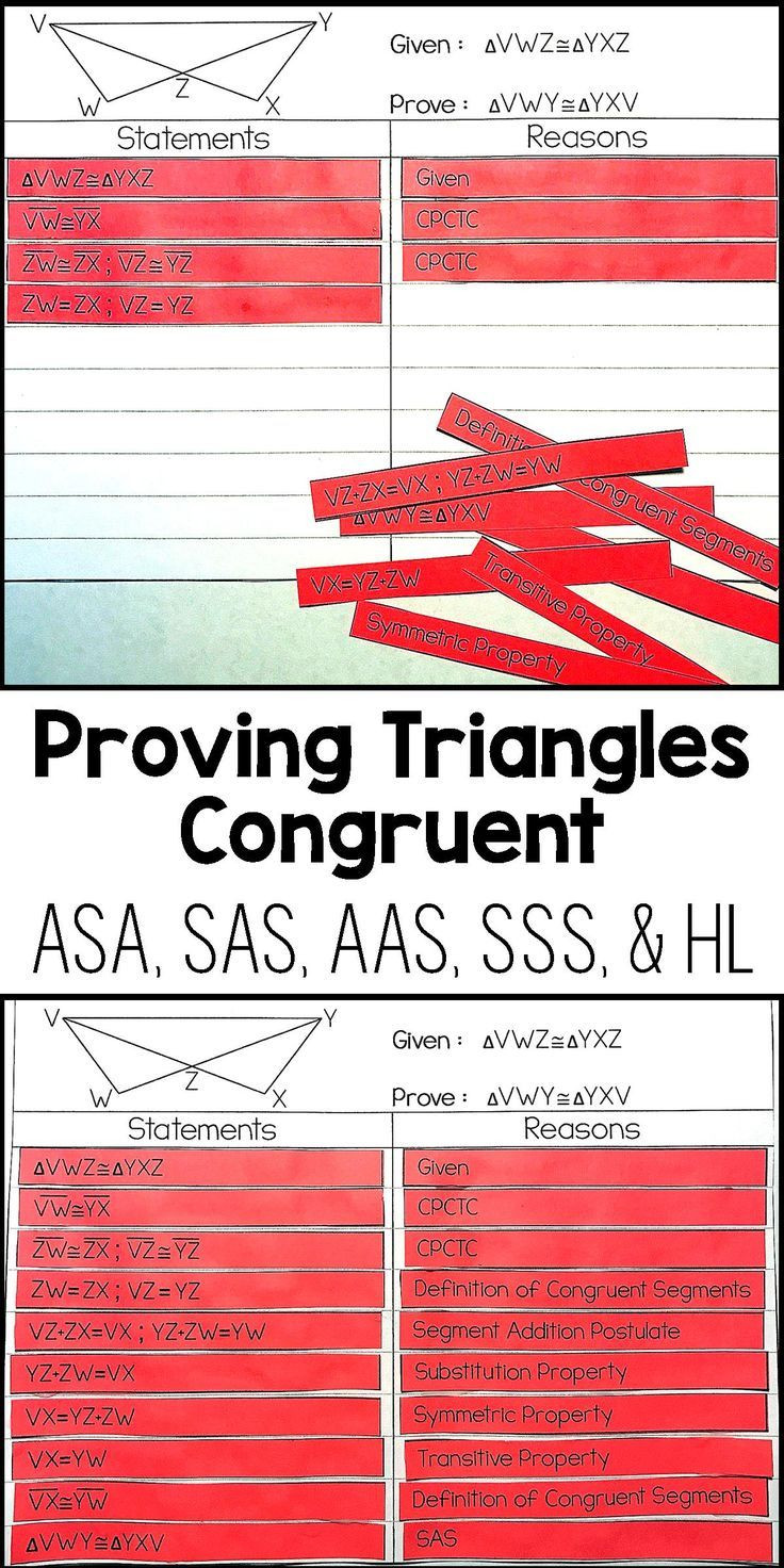 Geometry Proof Practice Worksheet Proving Triangles Congruent Proof Activity High School