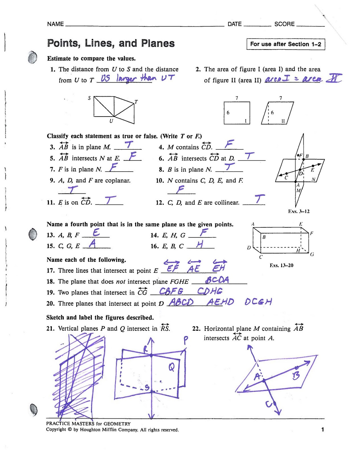 Geometry Proof Practice Worksheet Segment Addition Postulate Practice Answers