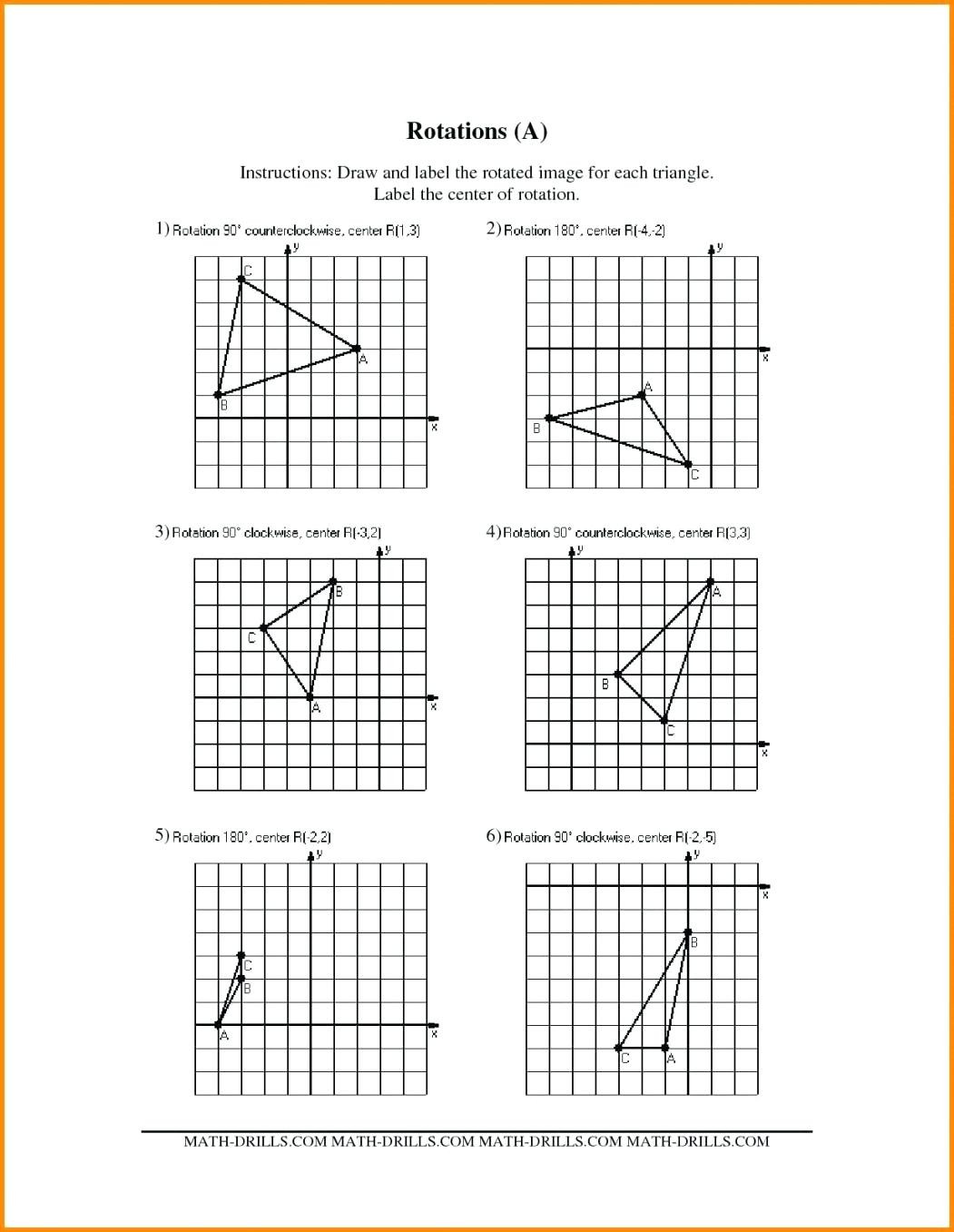 Geometry Transformation Composition Worksheet Answers Geometry Transformation Position Worksheet Answers