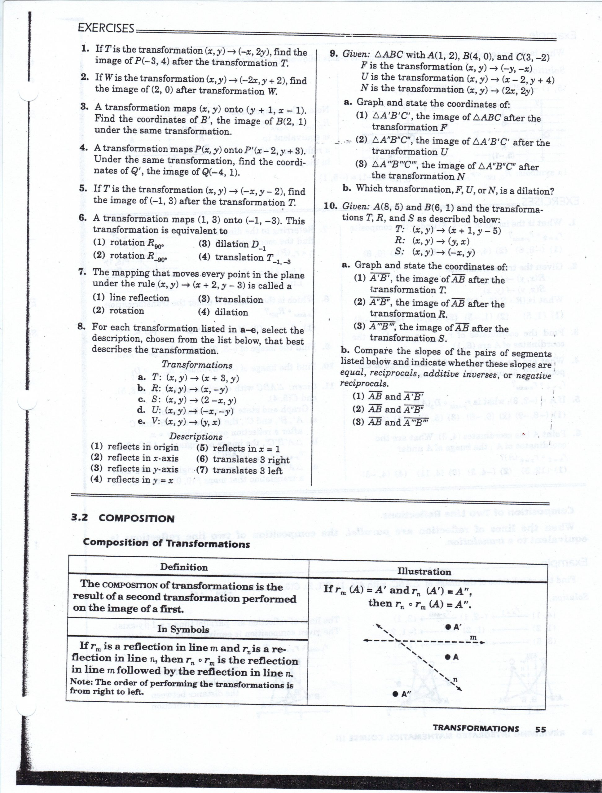 Geometry Transformation Composition Worksheet Answers Geometry Worksheets Mhshs Wiki