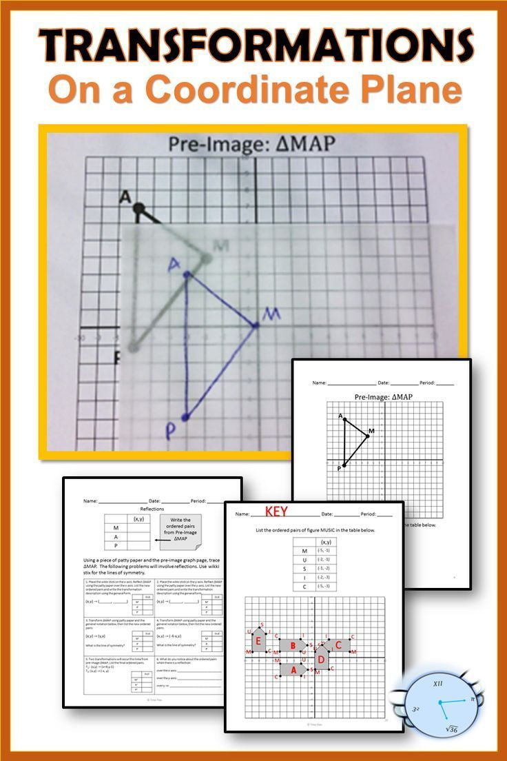 Geometry Transformations Worksheet Answers Geometry Transformations