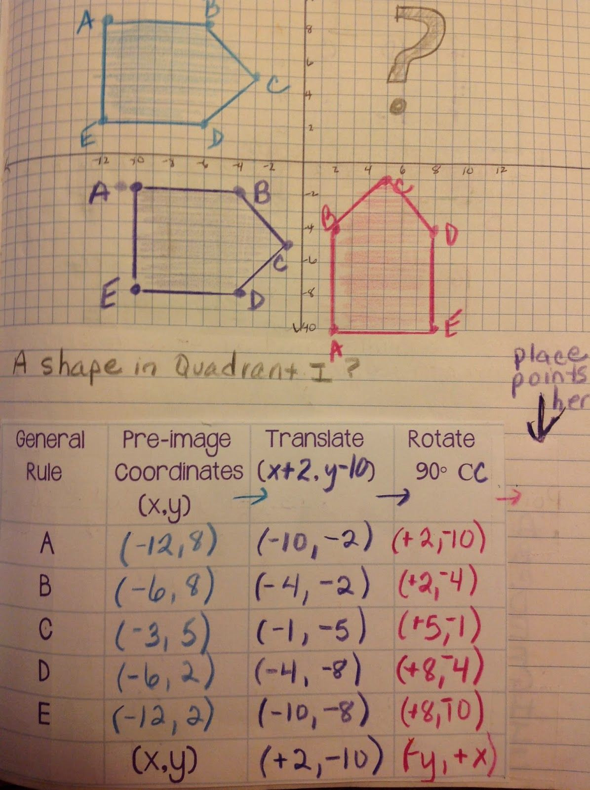 Geometry Transformations Worksheet Answers Multiple Transformations