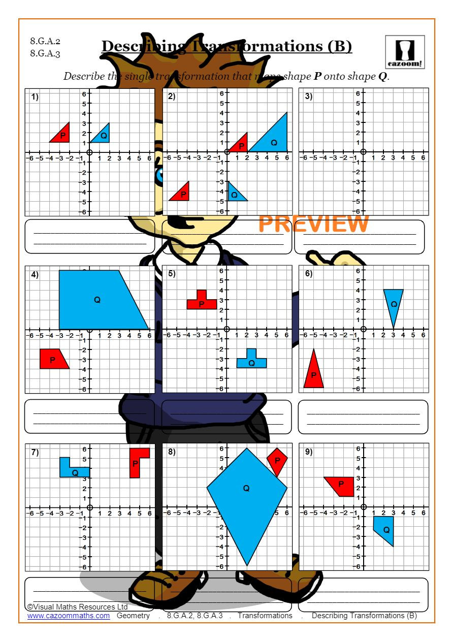 Geometry Transformations Worksheet Answers Transformations Worksheets Geometry