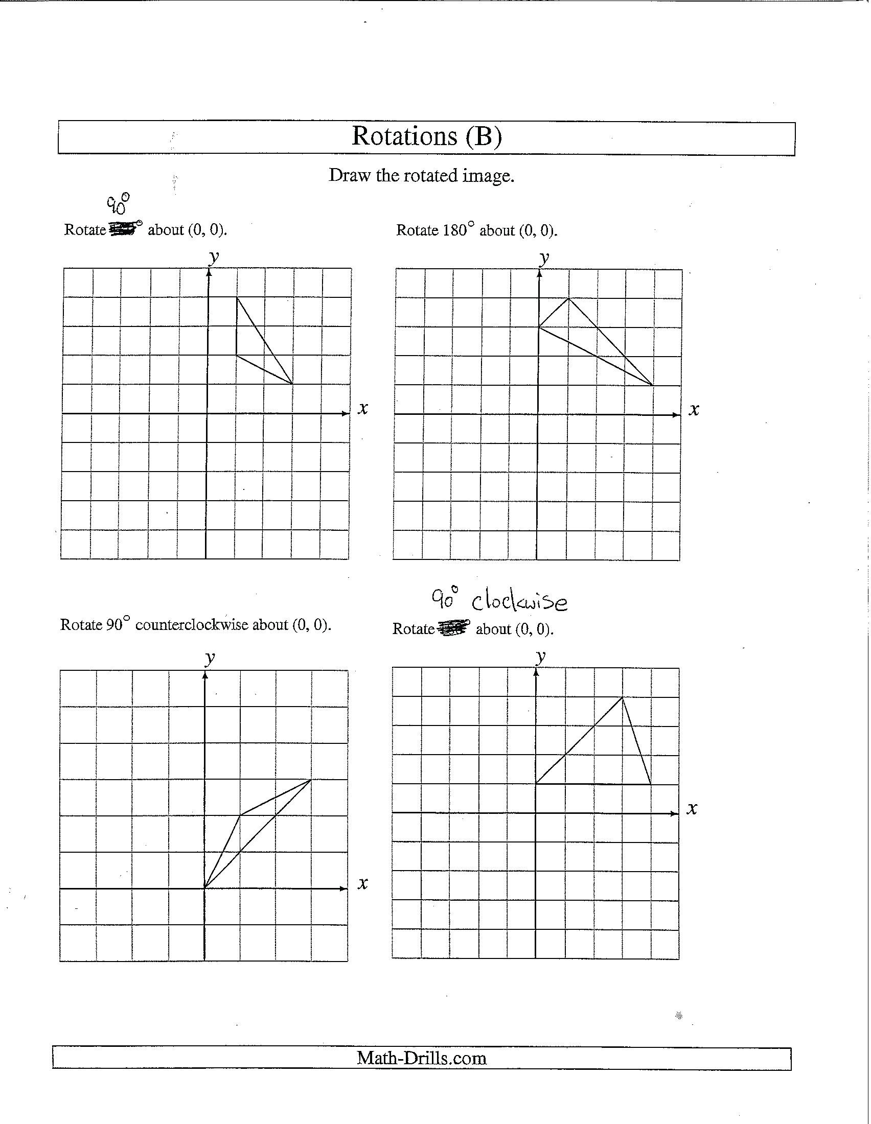 Geometry Transformations Worksheet Pdf Position Transformations Worksheet Pdf