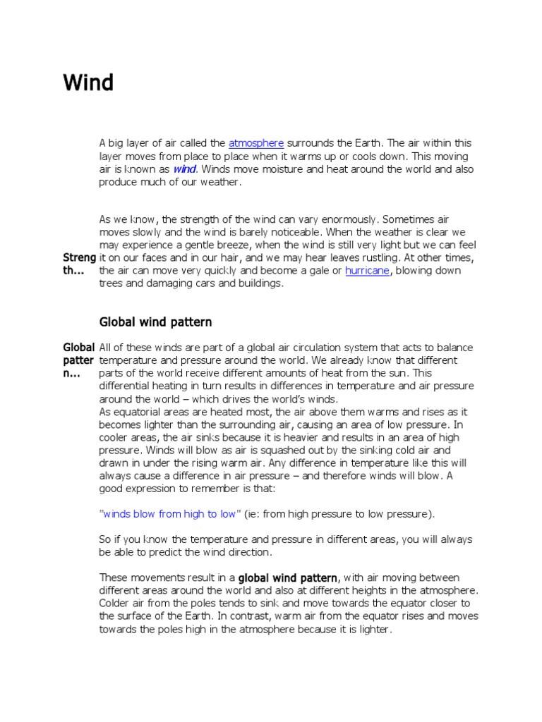 Global Wind Patterns Worksheet atmosphere Wind Wound