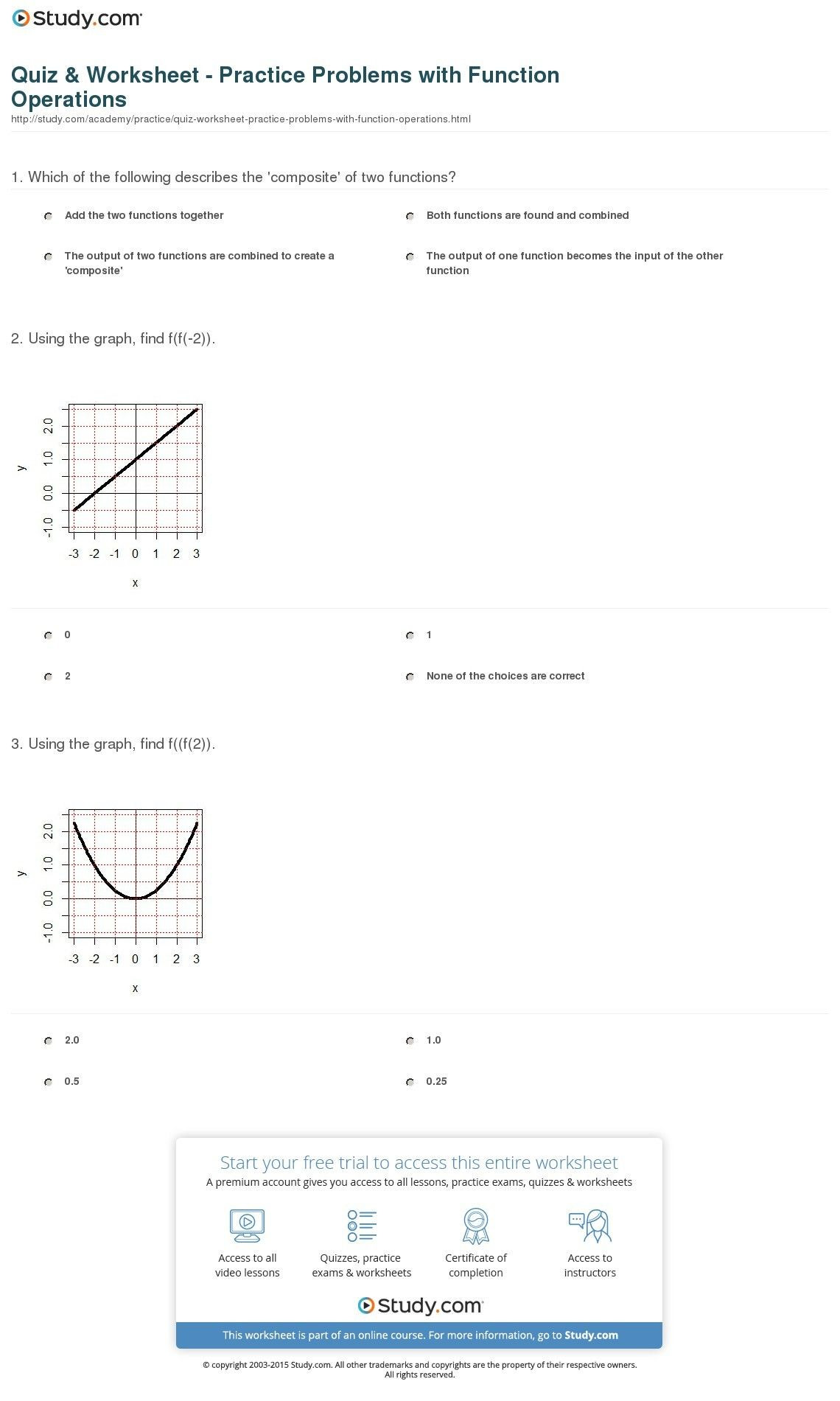 Graphing Inverse Functions Worksheet 6 Inspirational Inverse Functions Worksheet with Answers