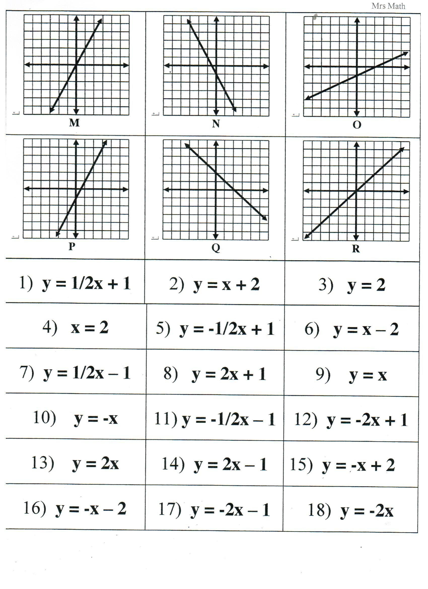 Graphing Linear Functions Worksheet Pin On Worksheets