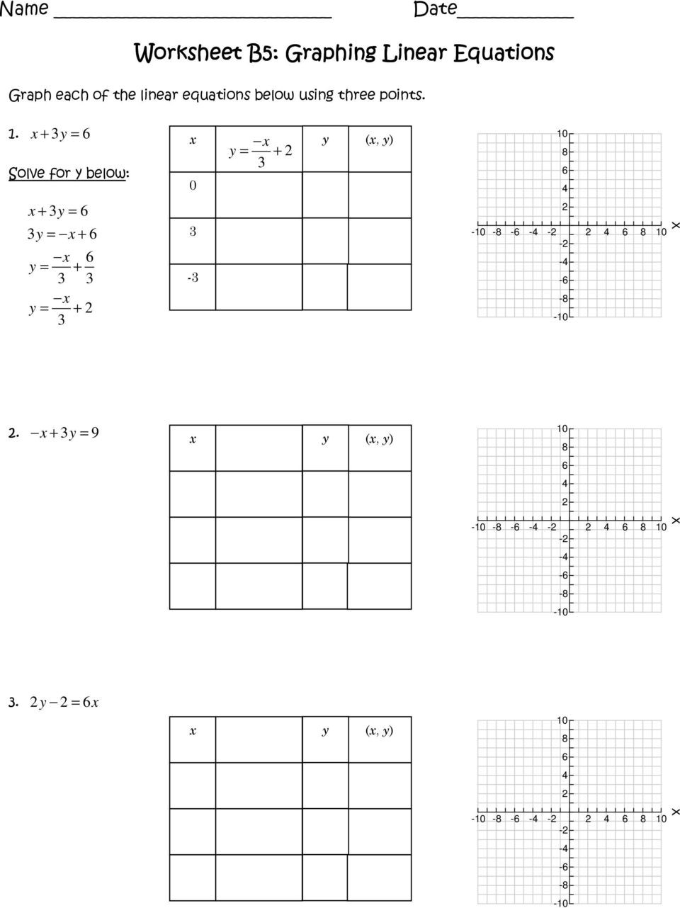 Graphing Linear Functions Worksheet Worksheet A5 Slope Intercept form Pdf Free Download