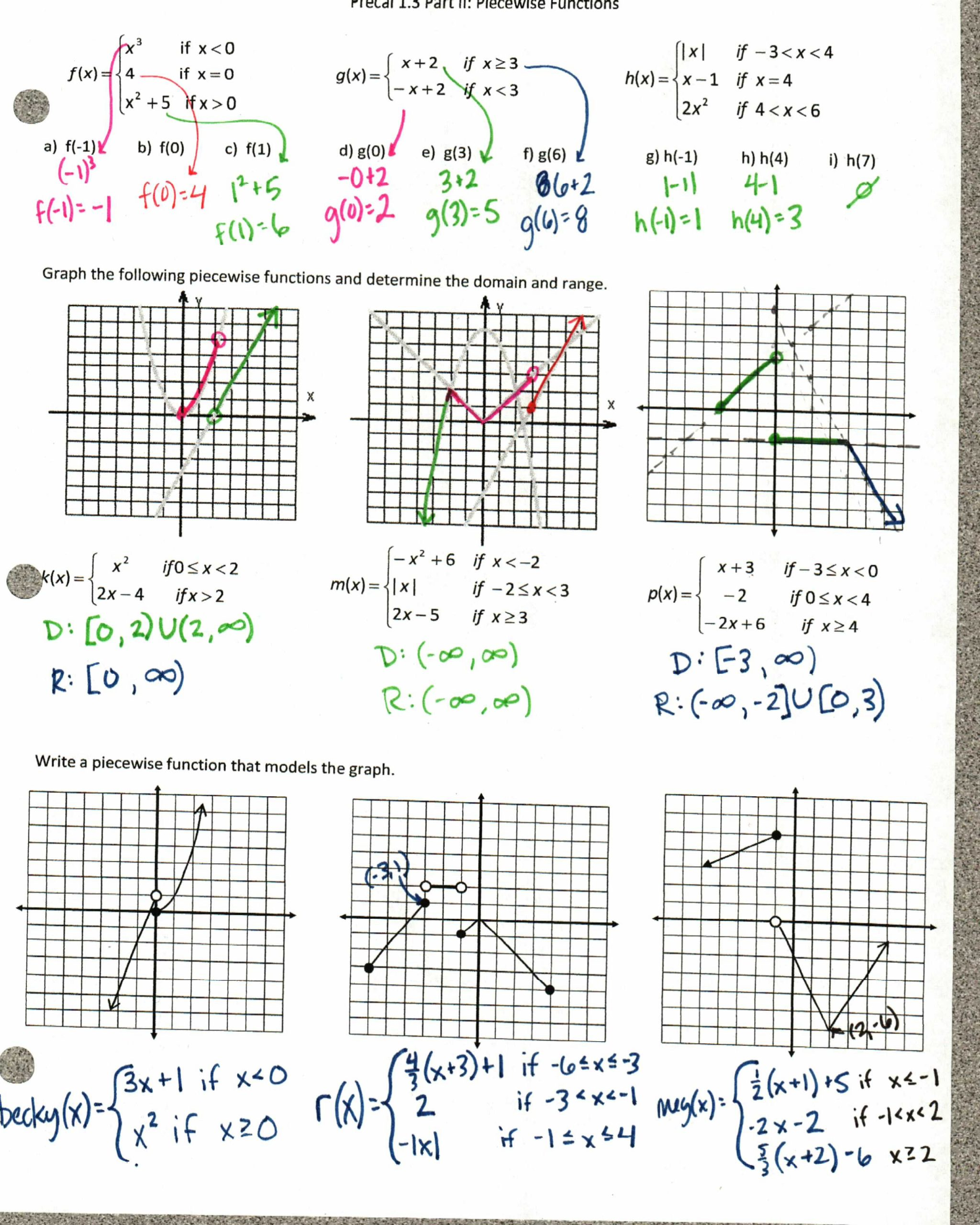 Graphing Linear Functions Worksheet Worksheet Using Transformations to Graph Quadratic Functions