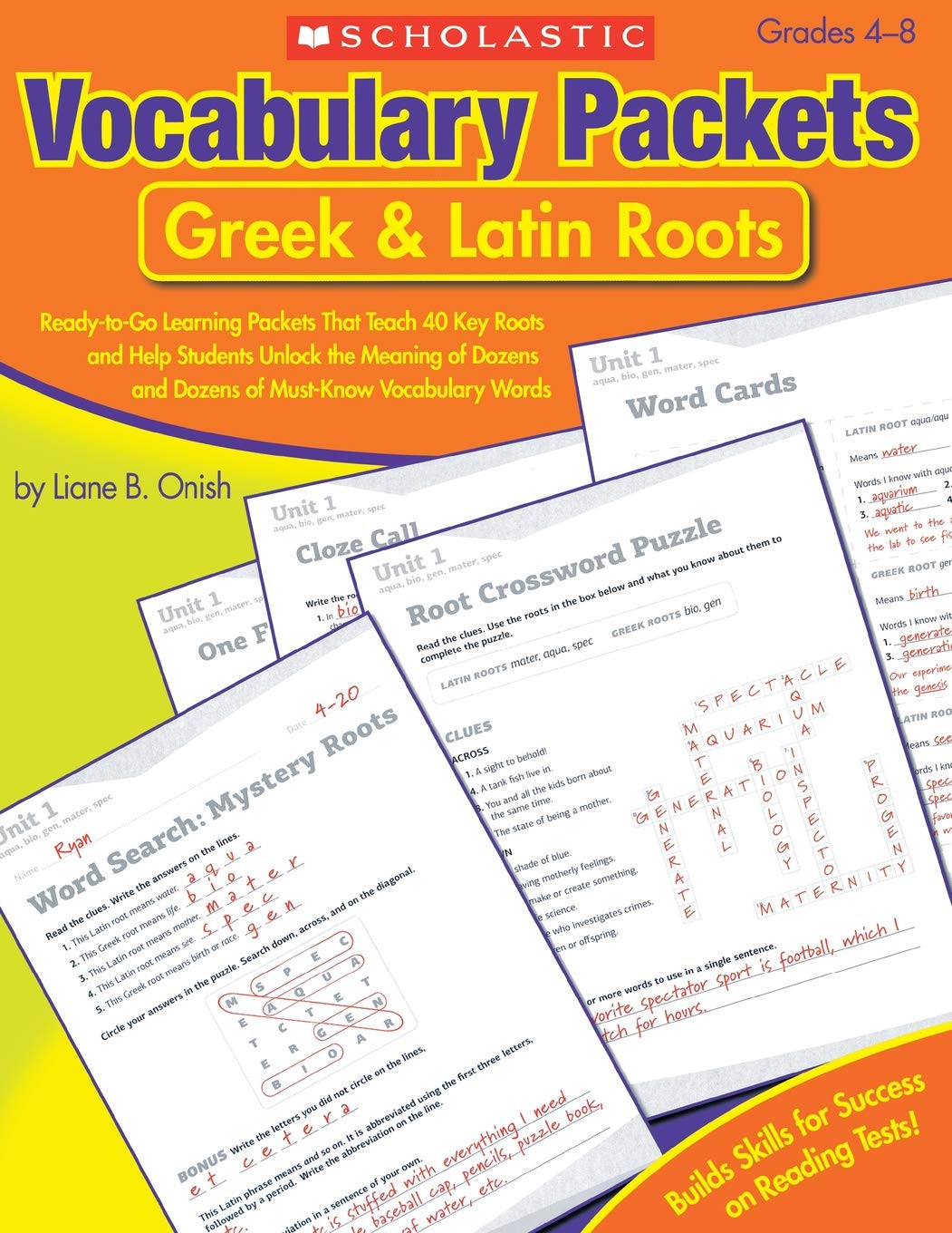 Greek and Latin Roots Worksheet Amazon Vocabulary Packets Greek & Latin Roots Ready