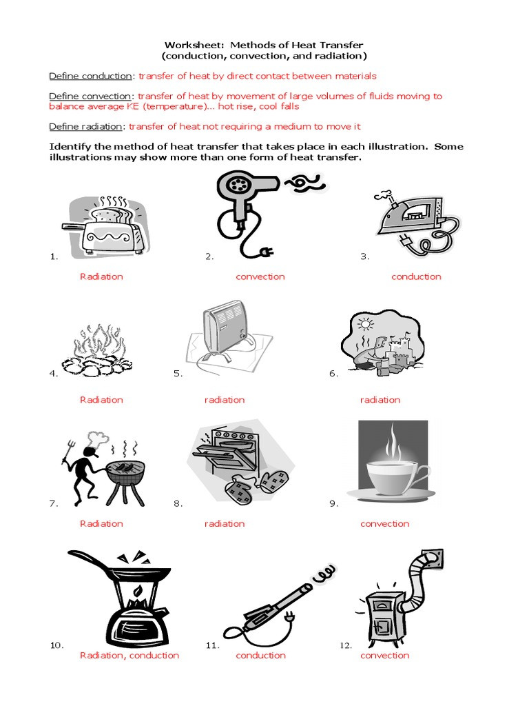 Heat Transfer Worksheet Answers 32 Methods Heat Transfer Worksheet Answers Worksheet