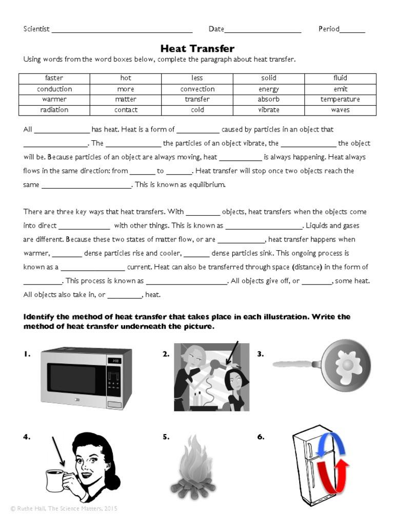 Heat Transfer Worksheet Answers Heattransferpracticeworksheet 1 Heat Transfer