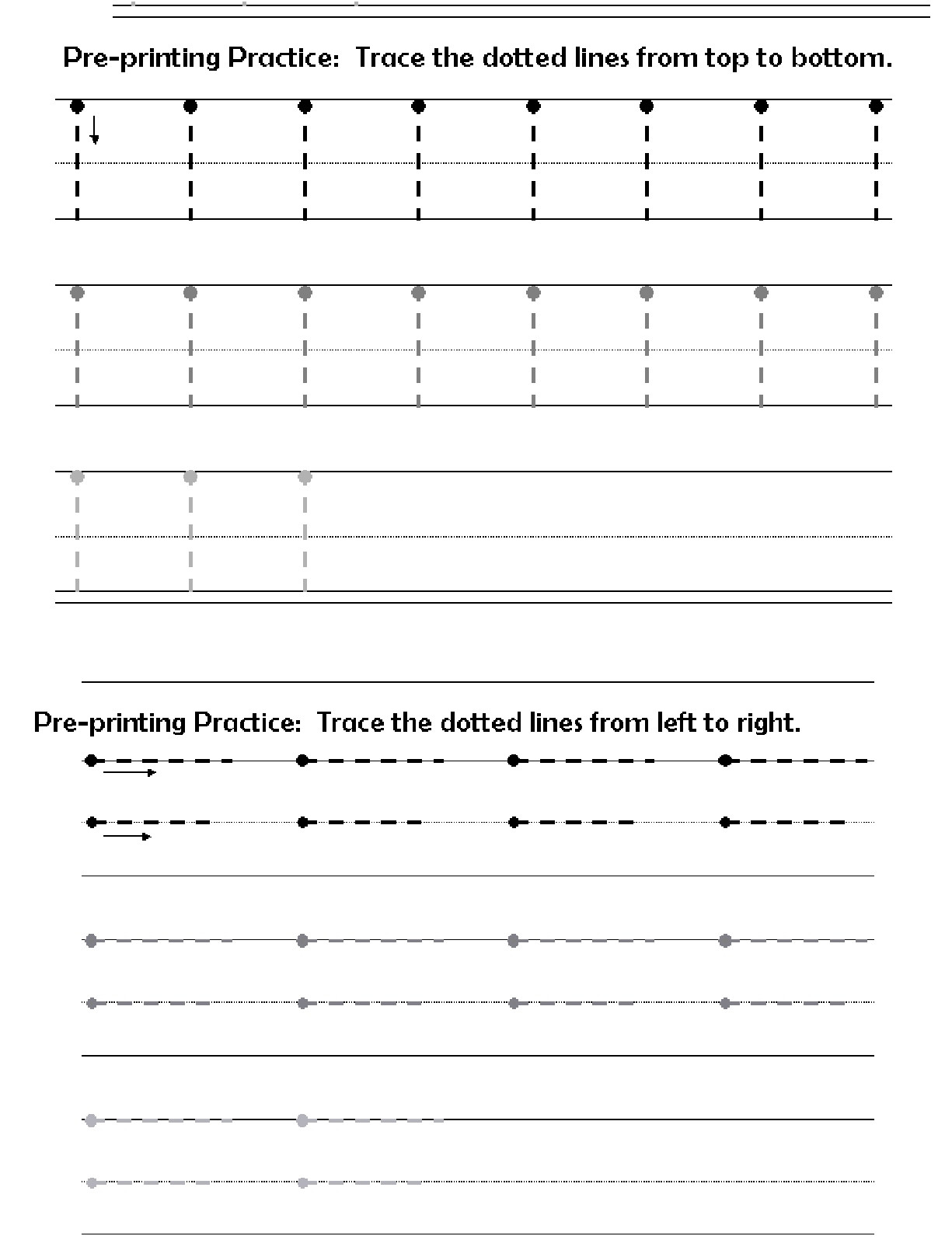 Horizontal and Vertical Lines Worksheet before Printing Letters Lines Circles Zig Zags