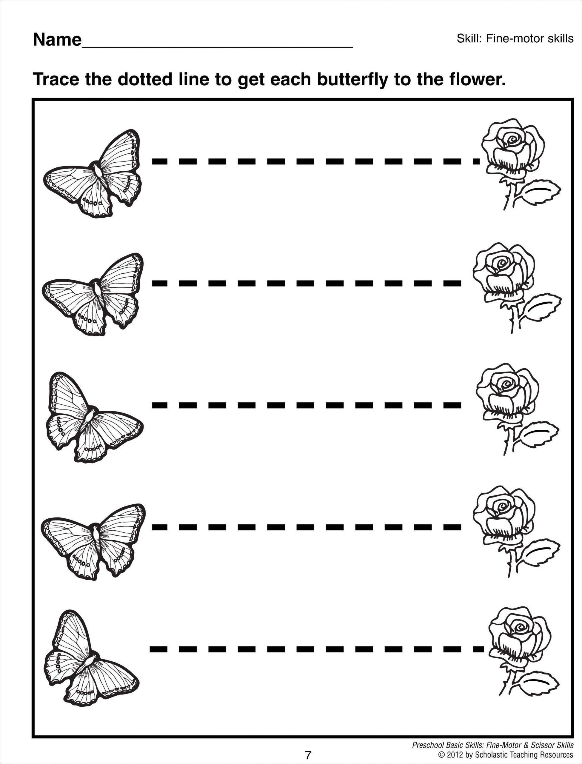 Horizontal and Vertical Lines Worksheet Tracing Horizontal Lines Preschool Basic Skills Fine Motor