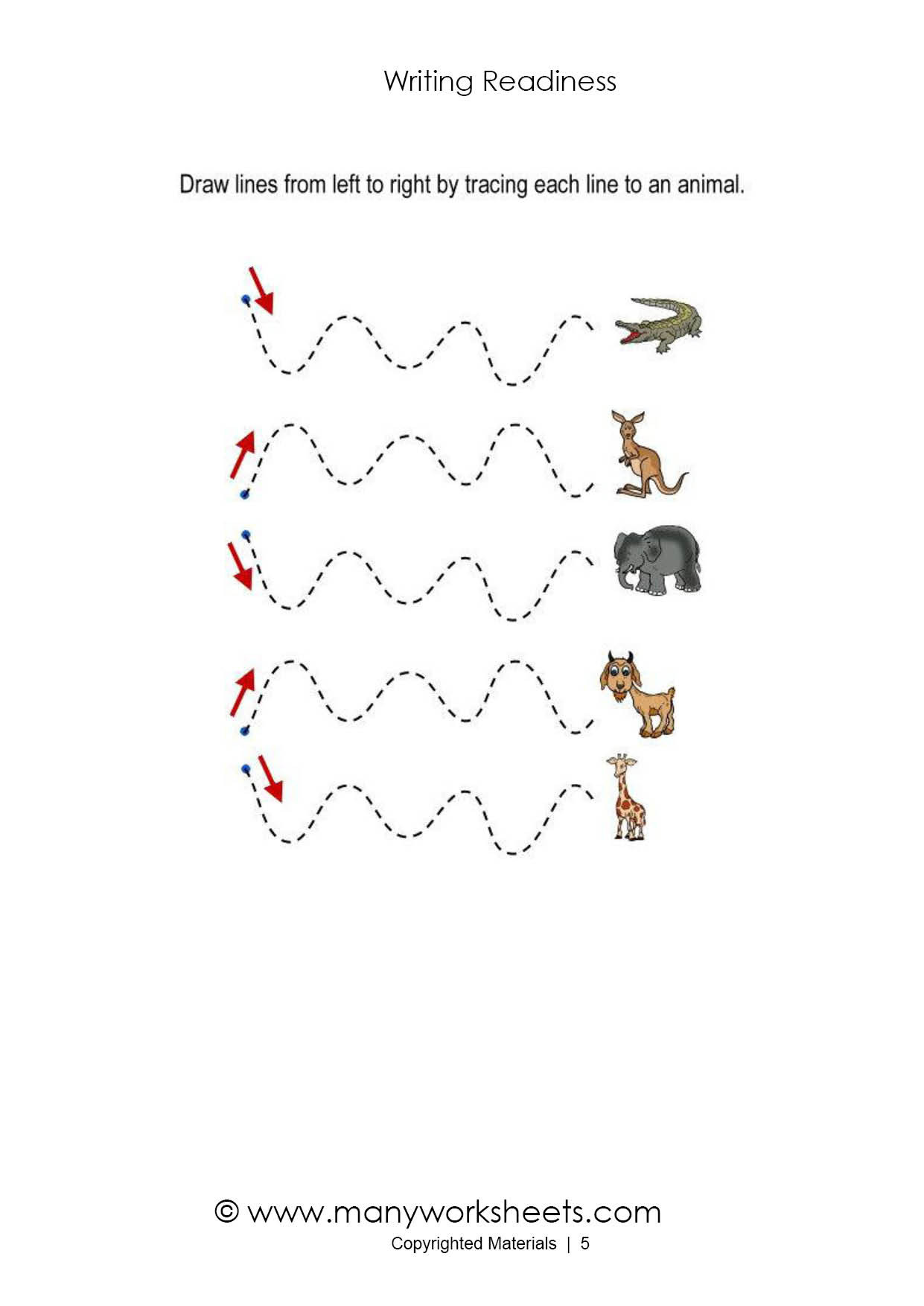 Horizontal and Vertical Lines Worksheet Tracing Lines Worksheets for toddlers
