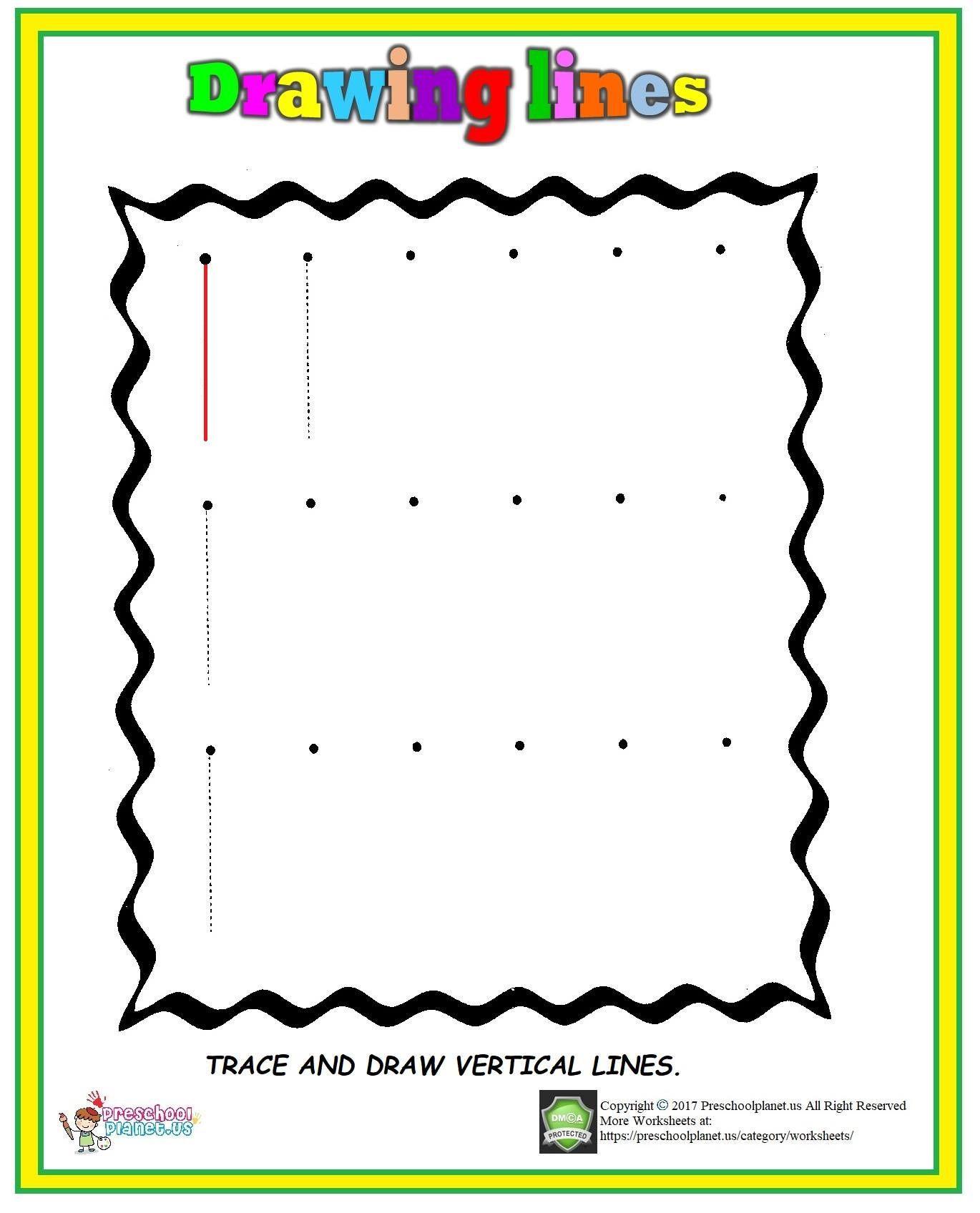 Horizontal and Vertical Lines Worksheet Vertical Line Worksheet