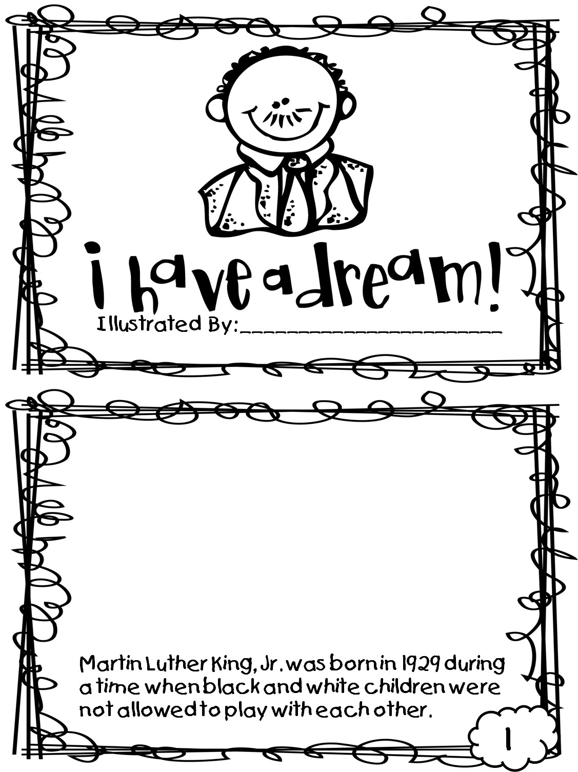 I Have A Dream Worksheet Coloring Pages Martin Luther King Jr Mlk and