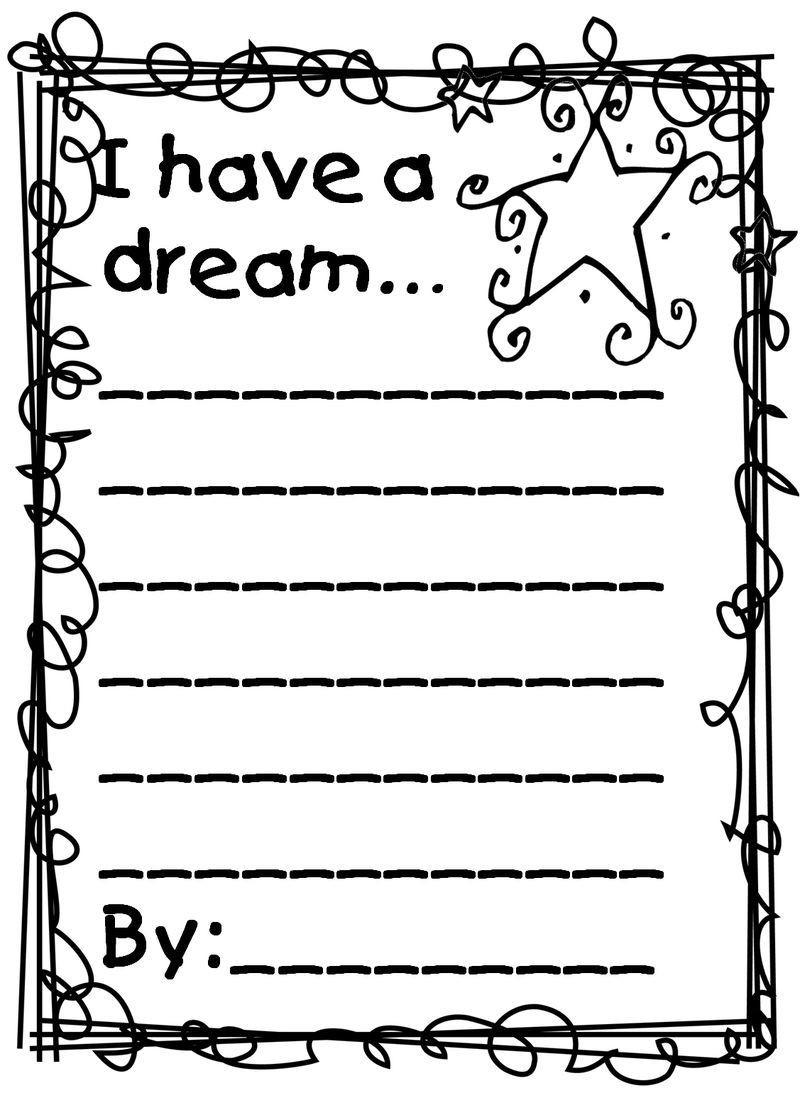 I Have A Dream Worksheet Martin Luther King I Have A Dream Worksheet In 2020