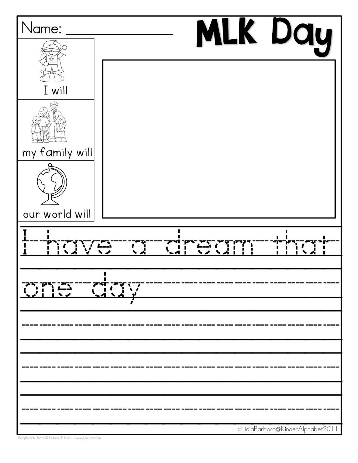 I Have A Dream Worksheet Martin Luther King Jr Freebie I Have A Dream
