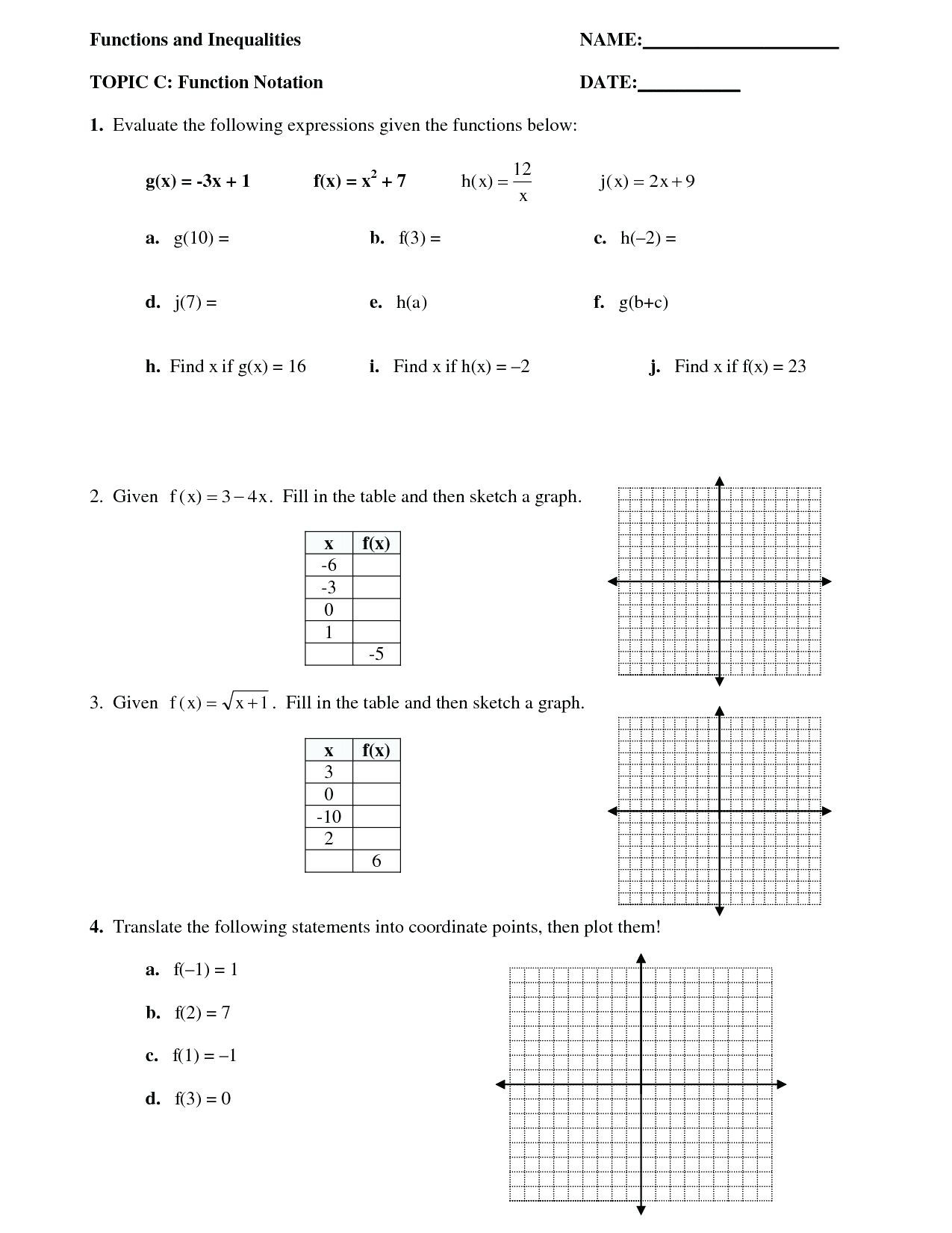 Inverse Functions Worksheet with Answers Posite Function Worksheet