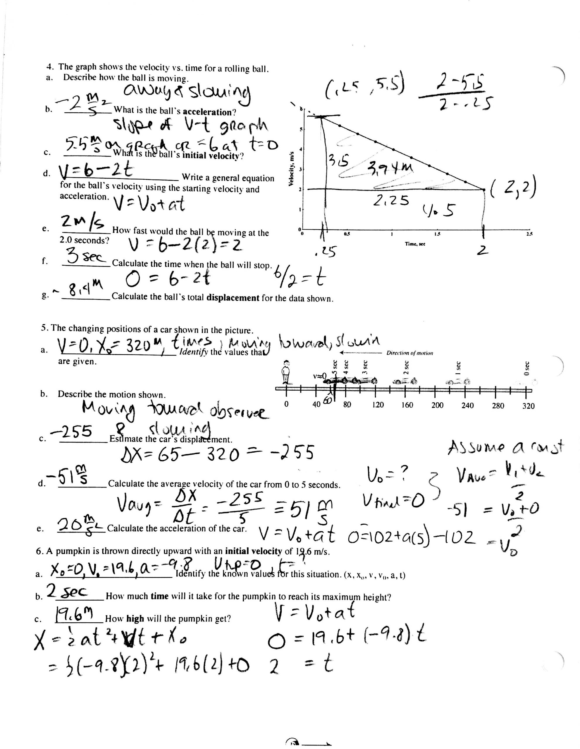 Kinematics Worksheet with Answers 28 Kinematic Equations Worksheet Answers Worksheet