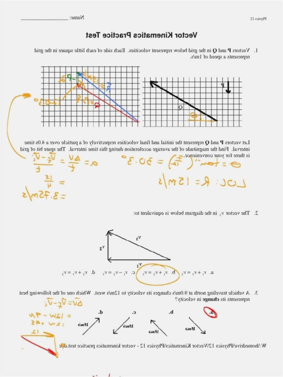Kinematics Worksheet with Answers Kinematics Worksheet with Answers Nidecmege