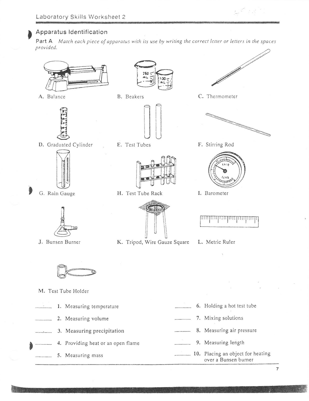 Lab Safety Worksheet Pdf 32 Science Lab Equipment Worksheet Answers Worksheet