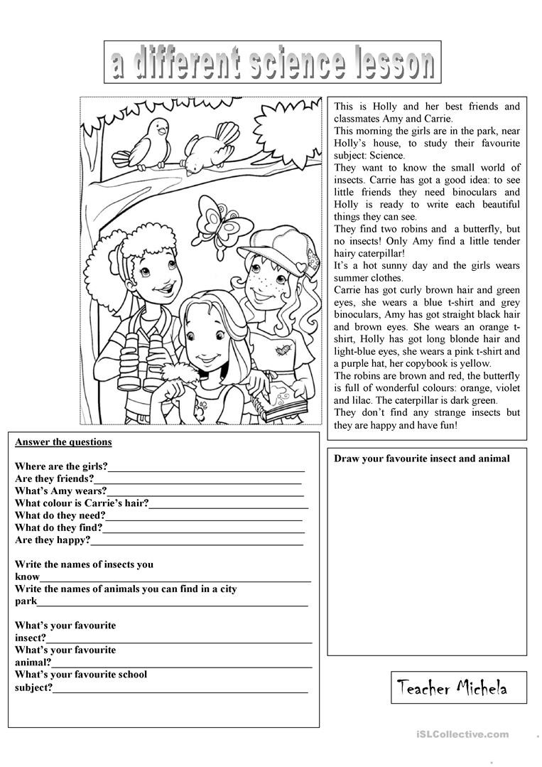 Language Of Science Worksheet Working with Words A Different Science Lesson English Esl
