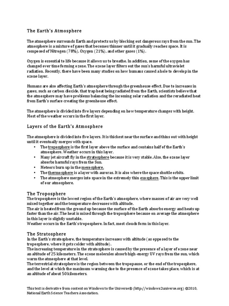 Layers Of the atmosphere Worksheet Layers Of the Earth S atmosphere Worksheet Includes
