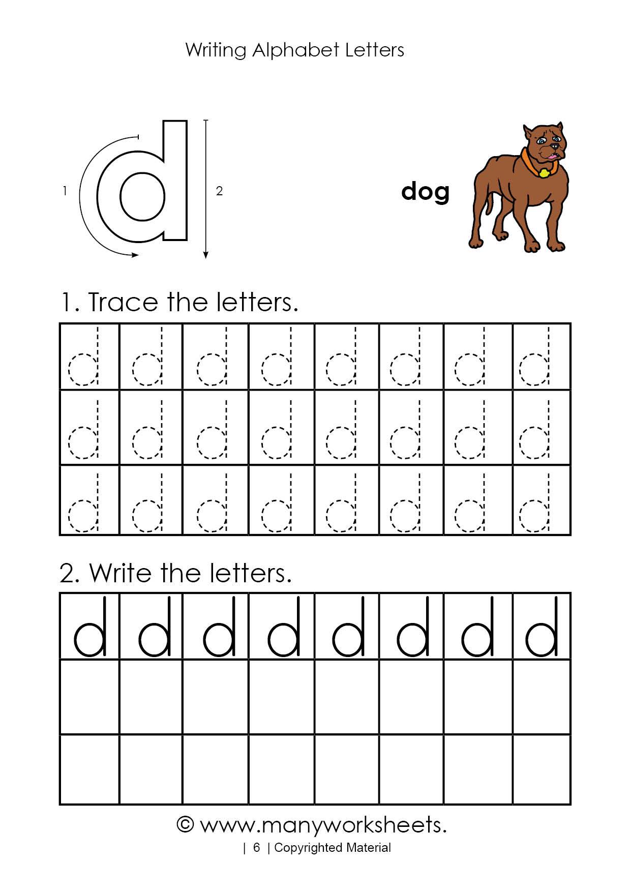 Letter D Worksheet for Preschool Tracing Letter D Worksheet for Kindergarten