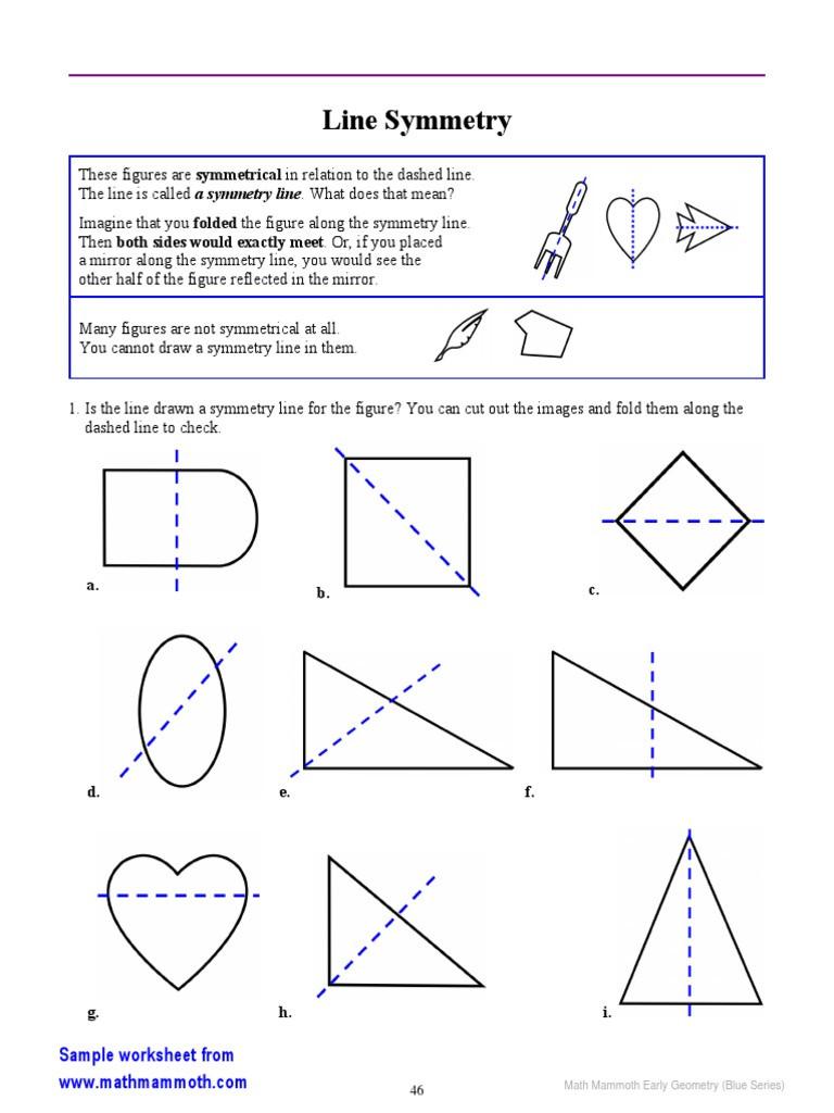 Line Of Symmetry Worksheet Early Geometry Line Symmetry 2