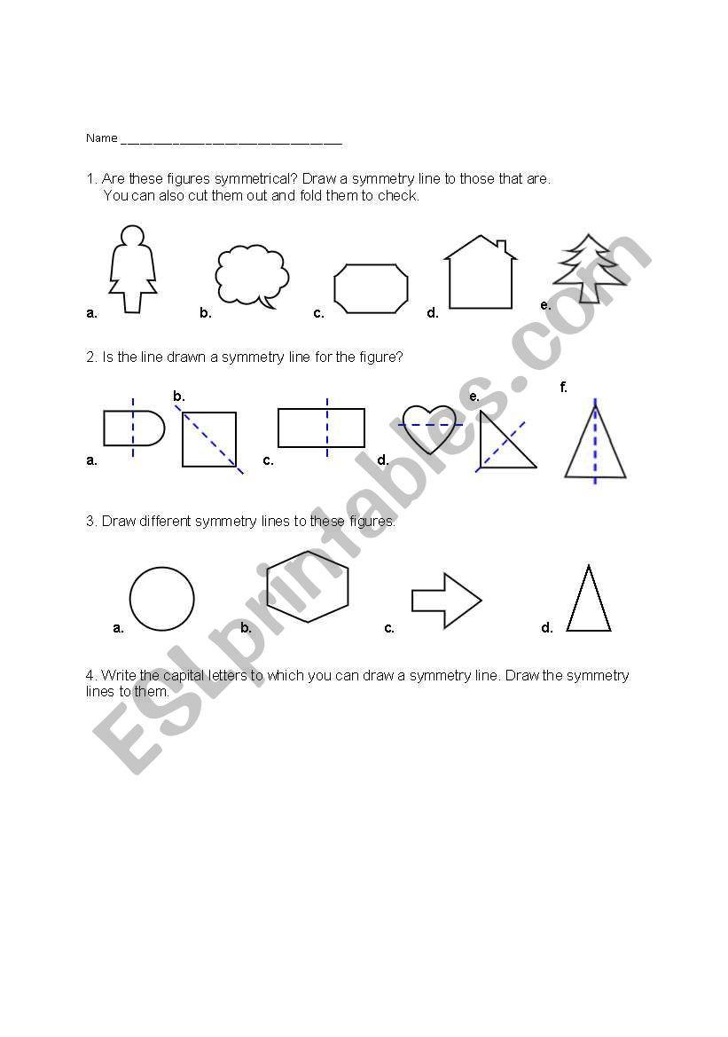 Line Of Symmetry Worksheet English Worksheets Line Of Symmetry