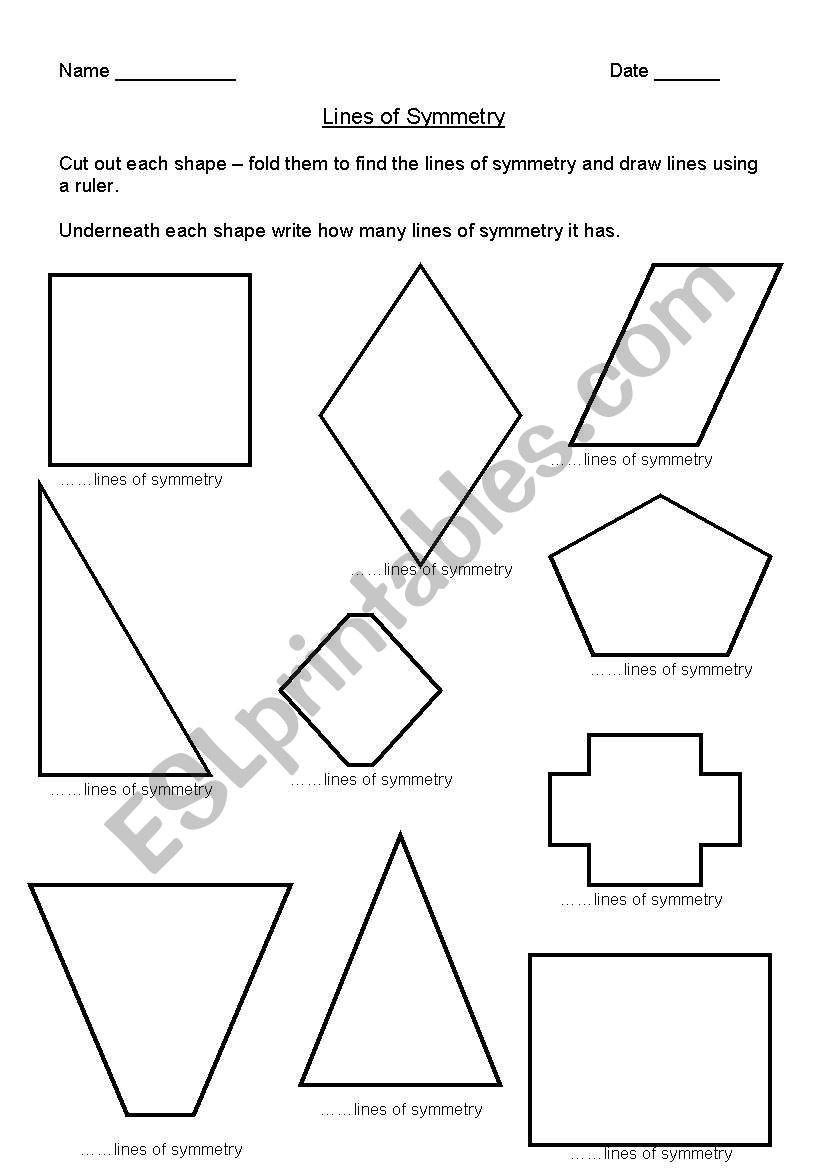 Line Of Symmetry Worksheet English Worksheets Lines Of Symmetry