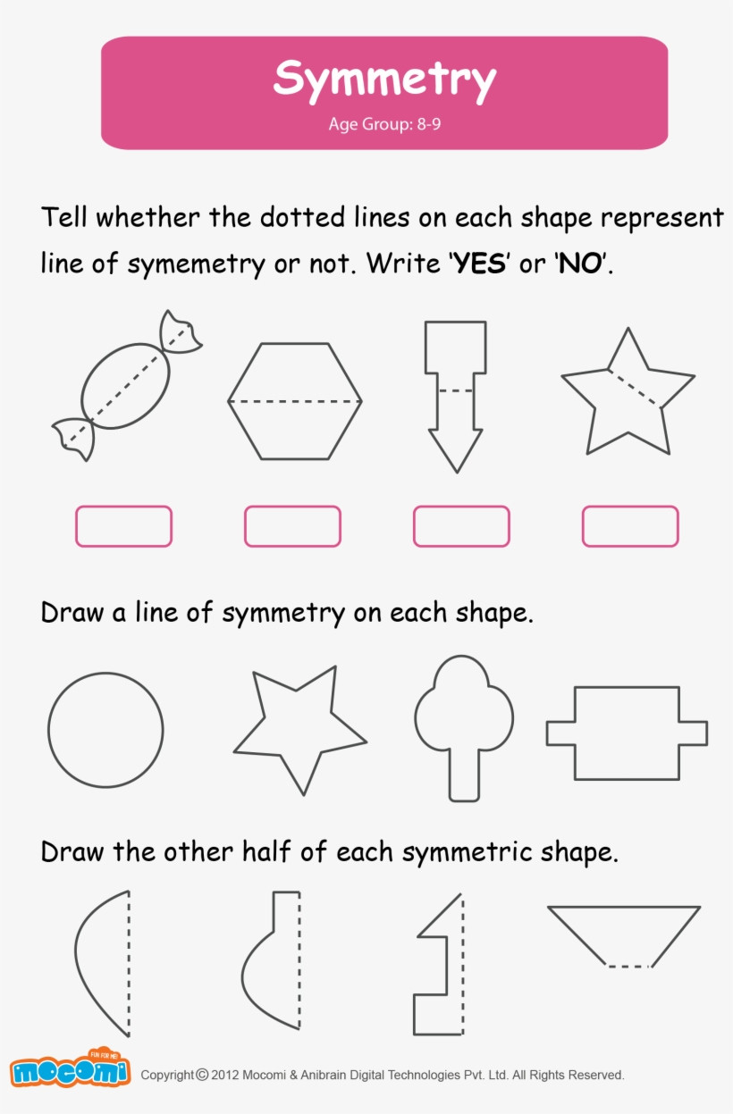Line Of Symmetry Worksheet Math Worksheet for Kids Symmetry Worksheets for Grade 2