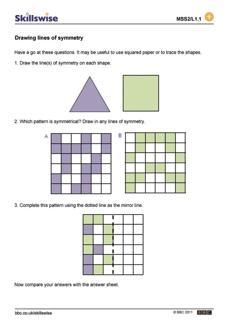 Line Of Symmetry Worksheet Migviracktant