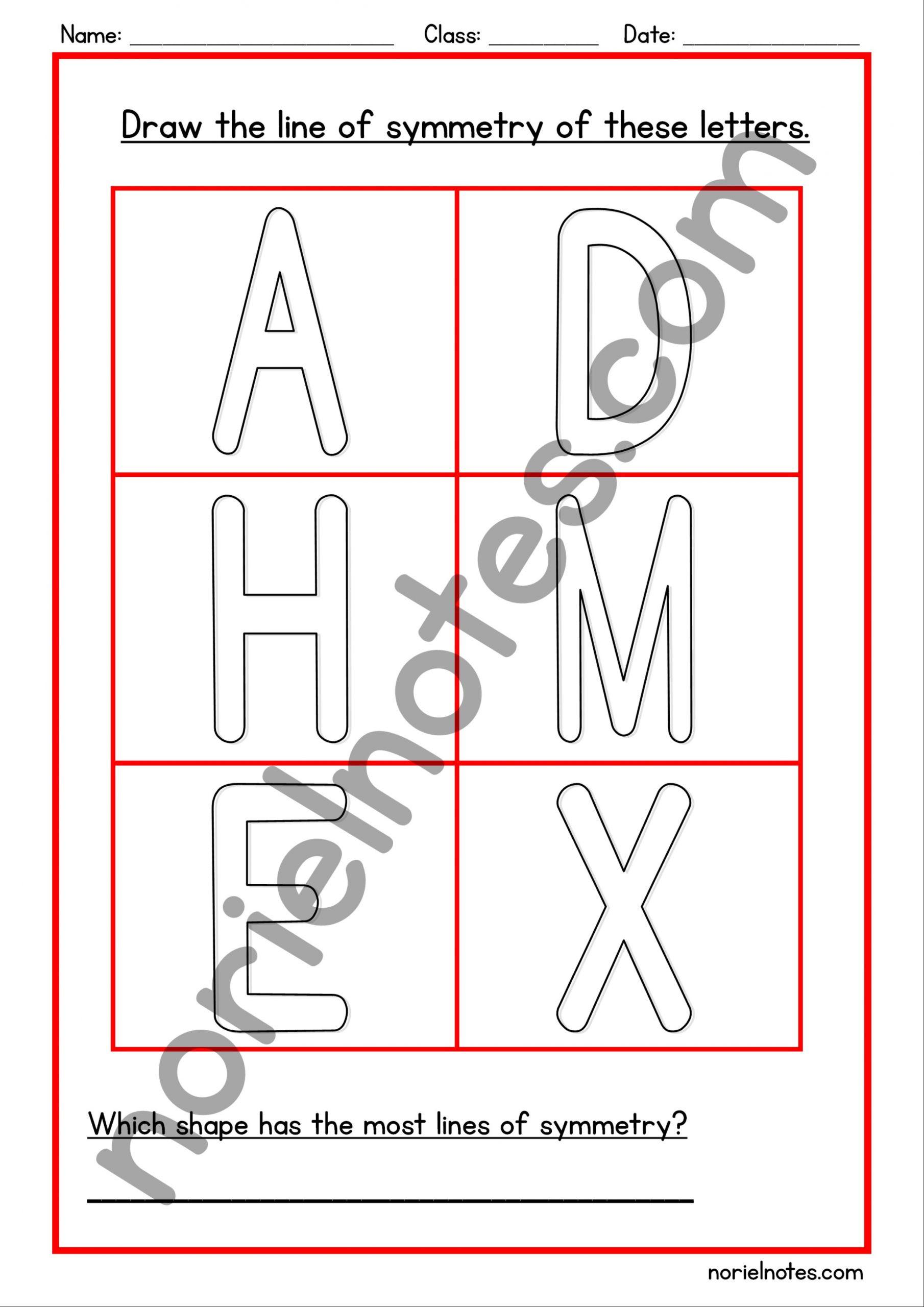 Line Of Symmetry Worksheet Symmetry Worksheets