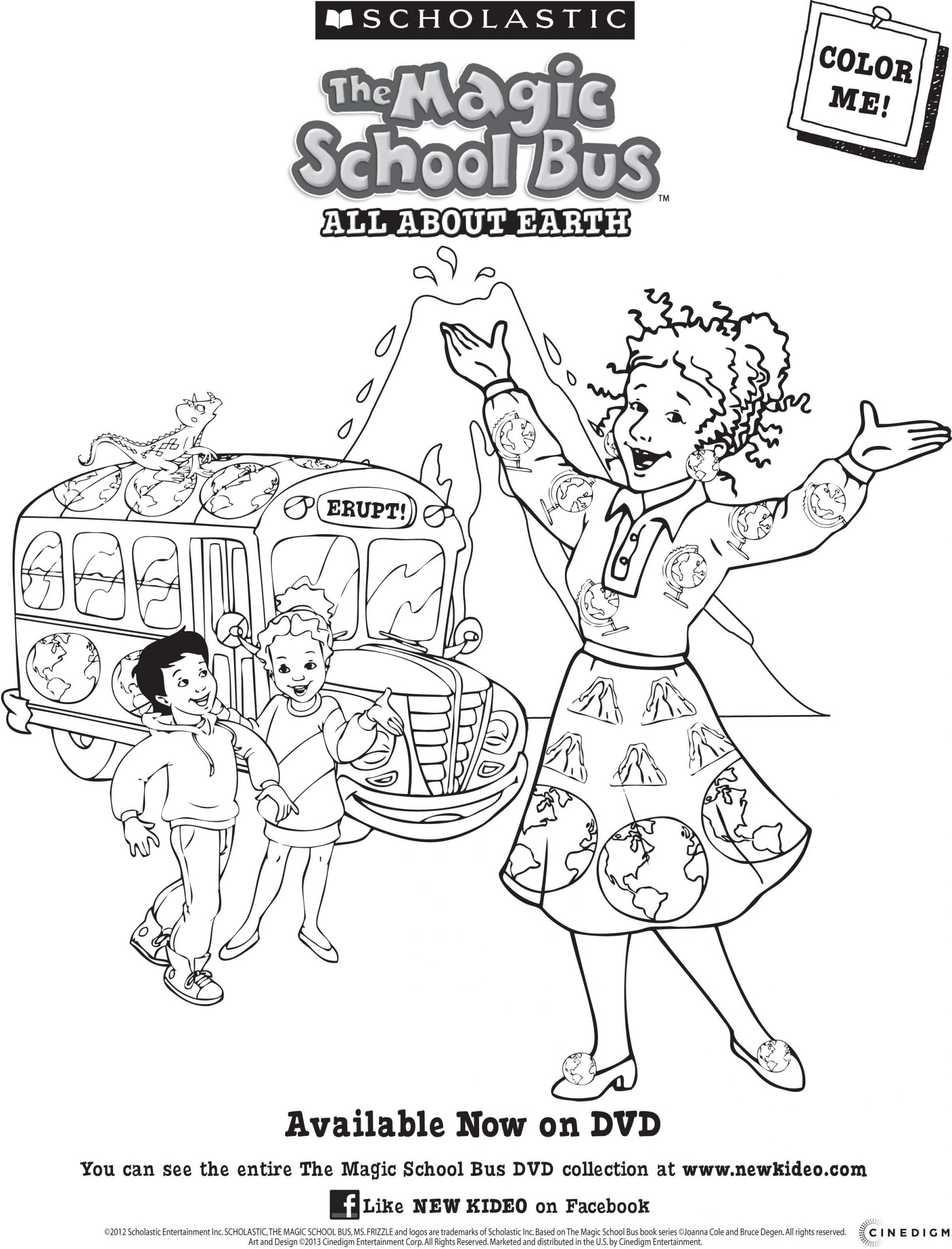 Magic School Bus Worksheet Magic School Bus All About the Earth Dvd