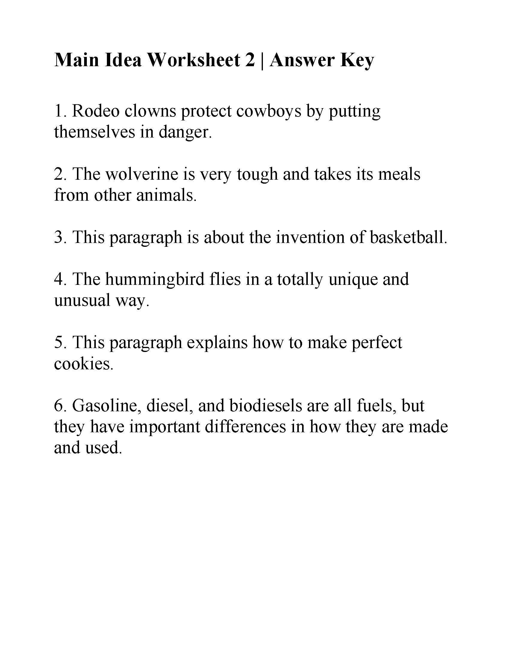 Main Idea Worksheet 4 4 Free Grammar Worksheets Third Grade 3 Capitalization