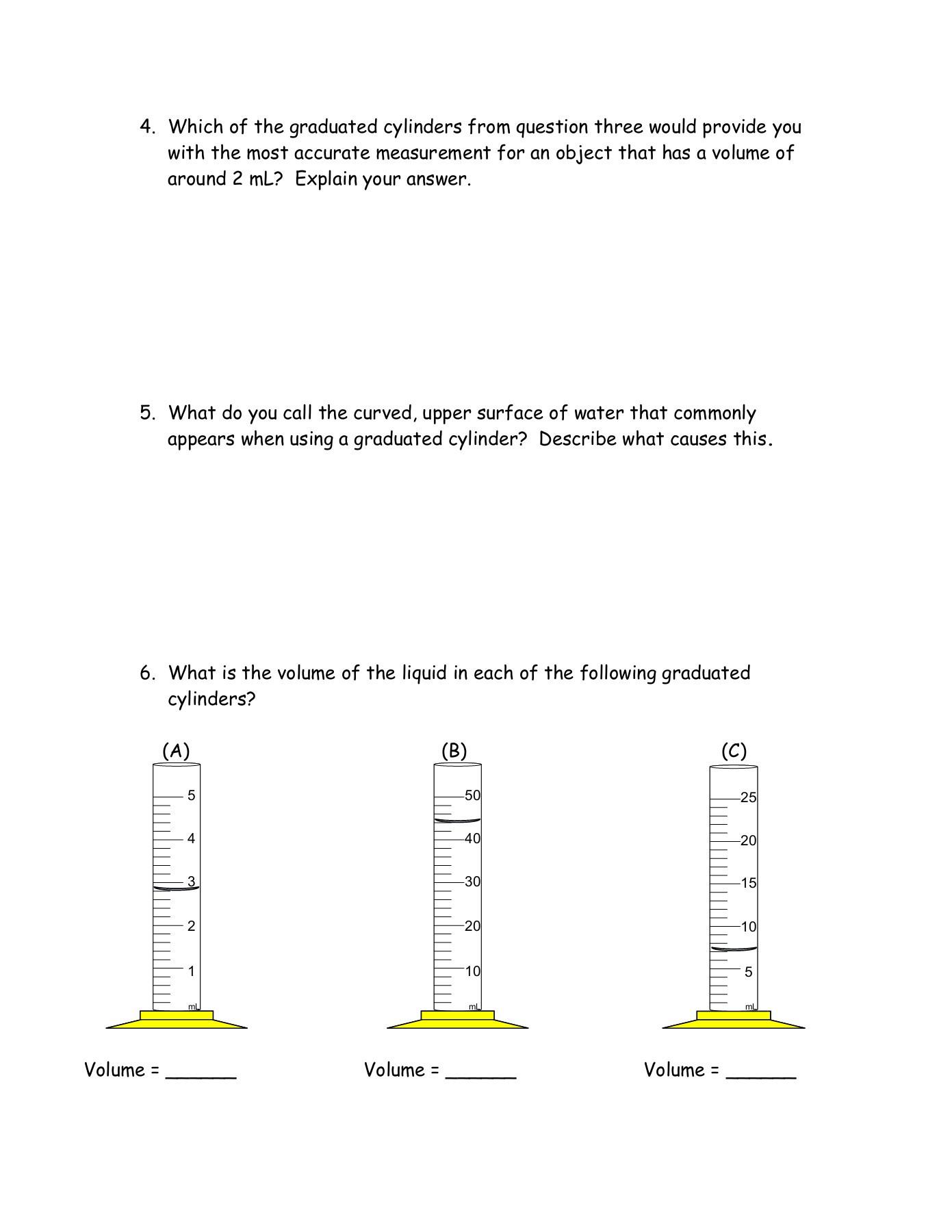 Measuring Liquid Volume Worksheet Measurement Practice Volume Length Mass Pages 1 7