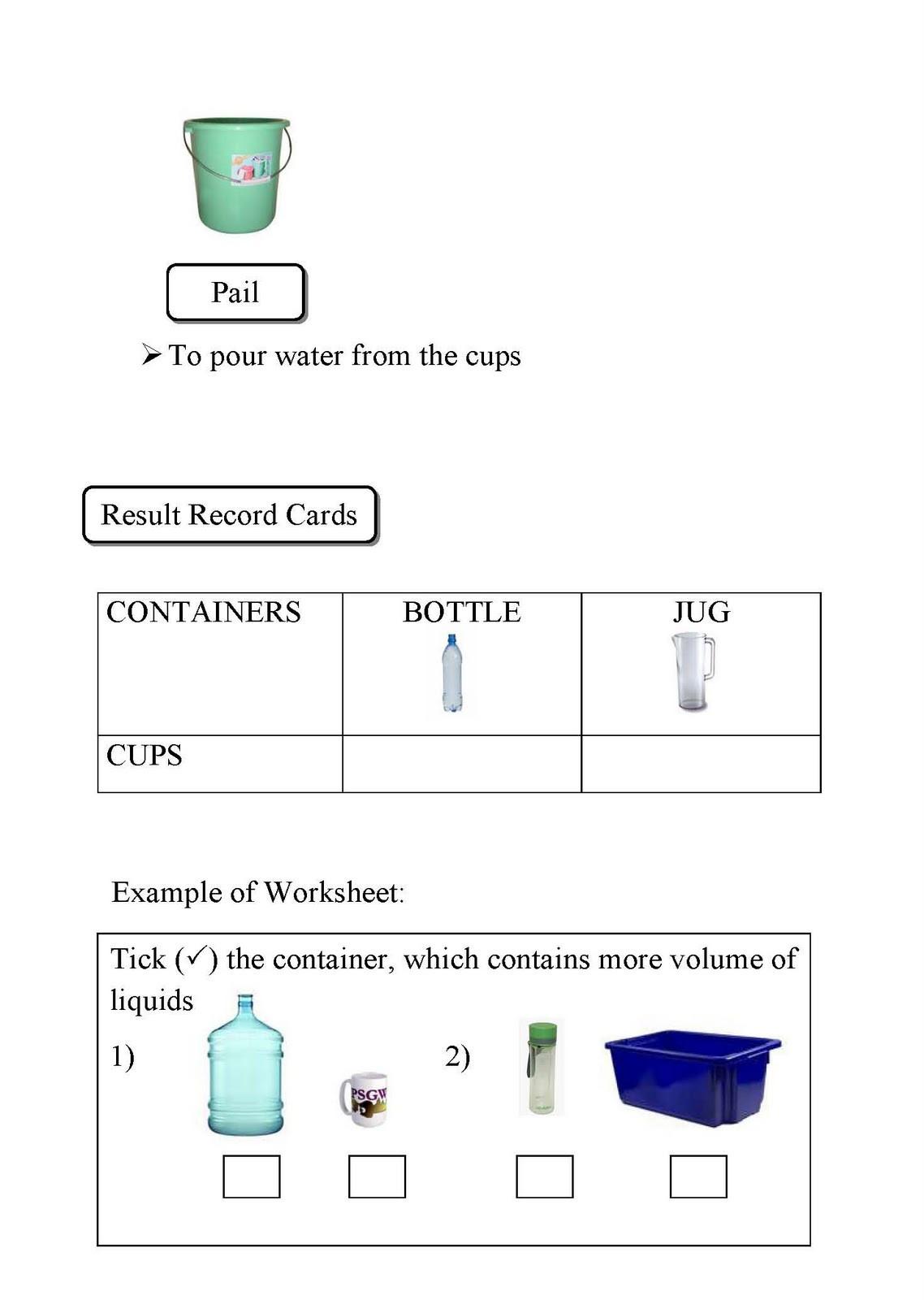 Measuring Liquid Volume Worksheet Volume Of Liquid Measurement Of Volume Of Liquid