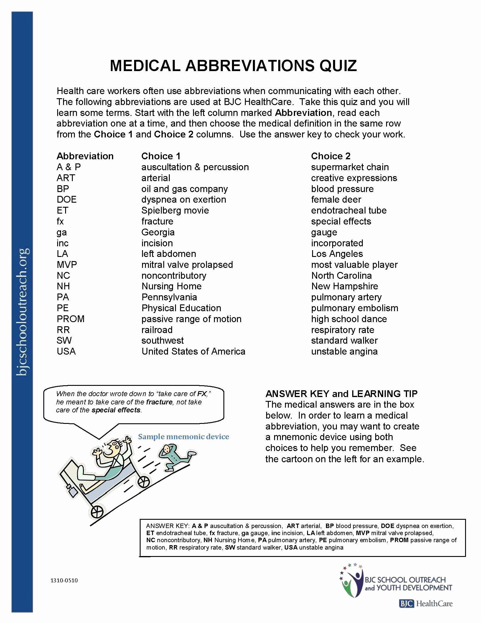 Medical Terminology Abbreviations Worksheet Medical Terminology Abbreviations Worksheet New Awesome
