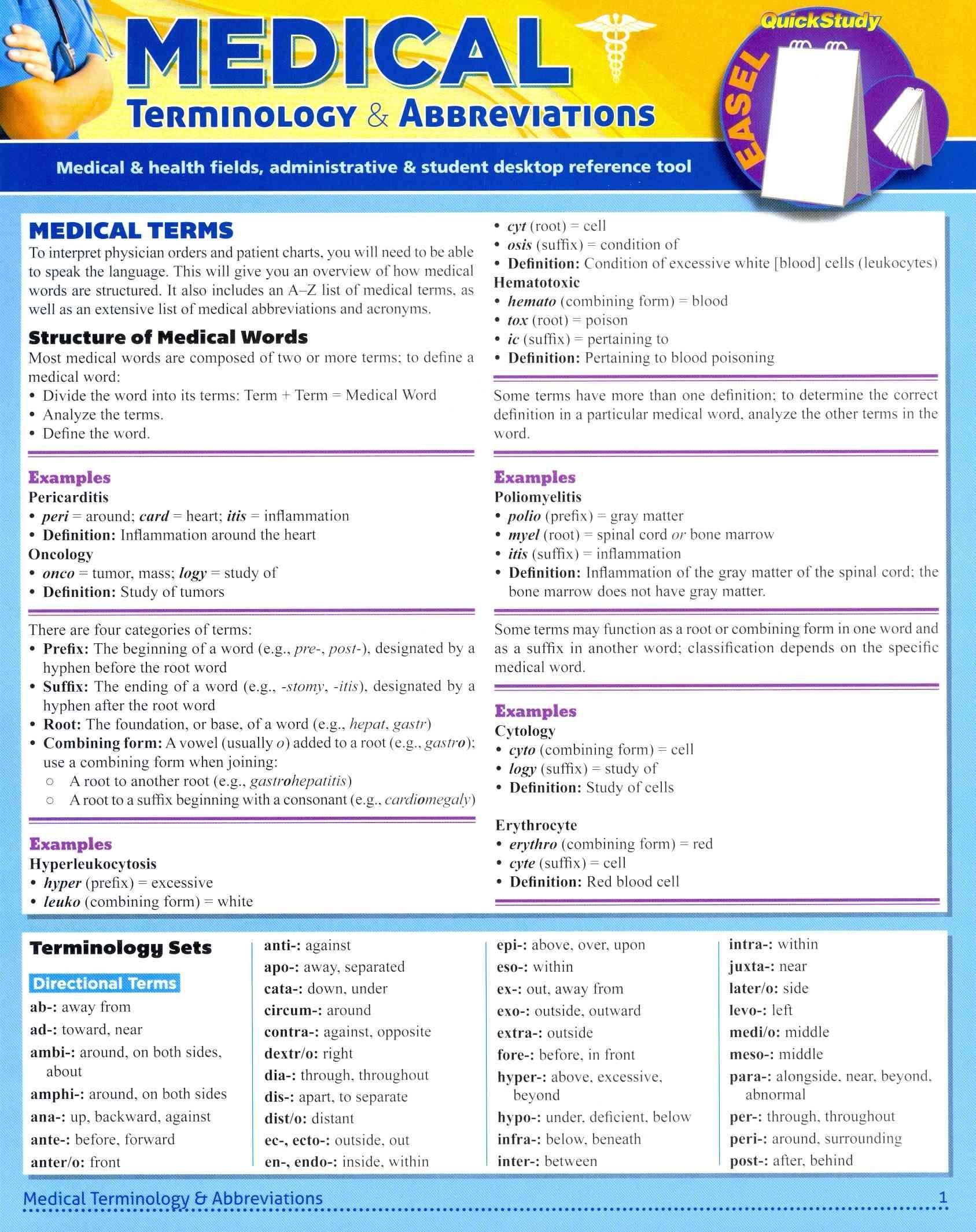 Medical Terminology Abbreviations Worksheet Medical Terminology & Abbreviations …