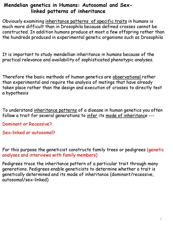 Mendelian Genetics Worksheet Answer Key Mendelian Genetics In Humans Autosomal and Linked