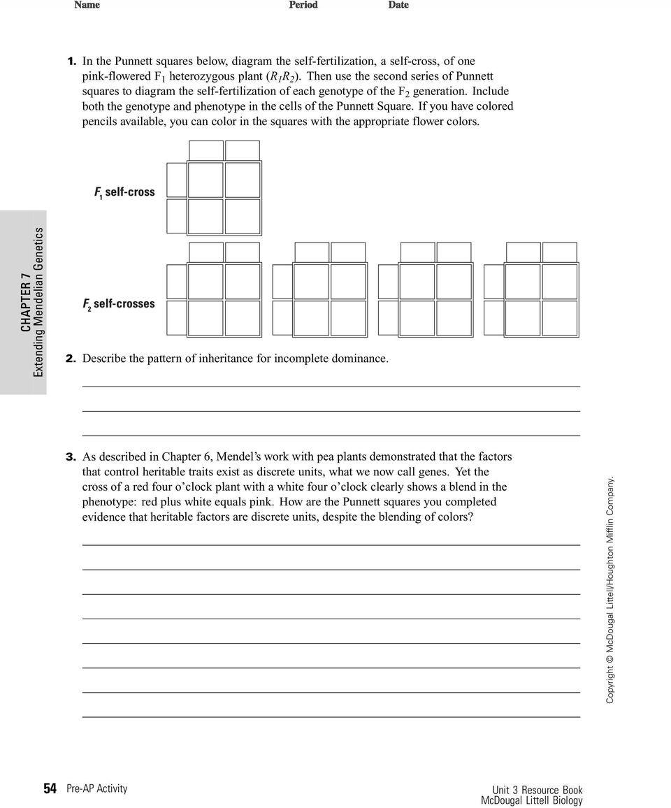 Mendelian Genetics Worksheet Answers Chapter 12 Patterns Heredity and Human Genetics Worksheet