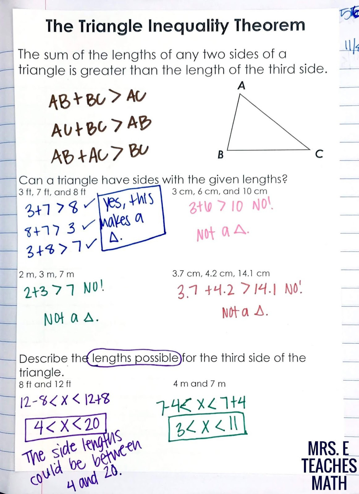 Midsegment theorem Worksheet Answer Key Relationships In Triangles Inb Pages